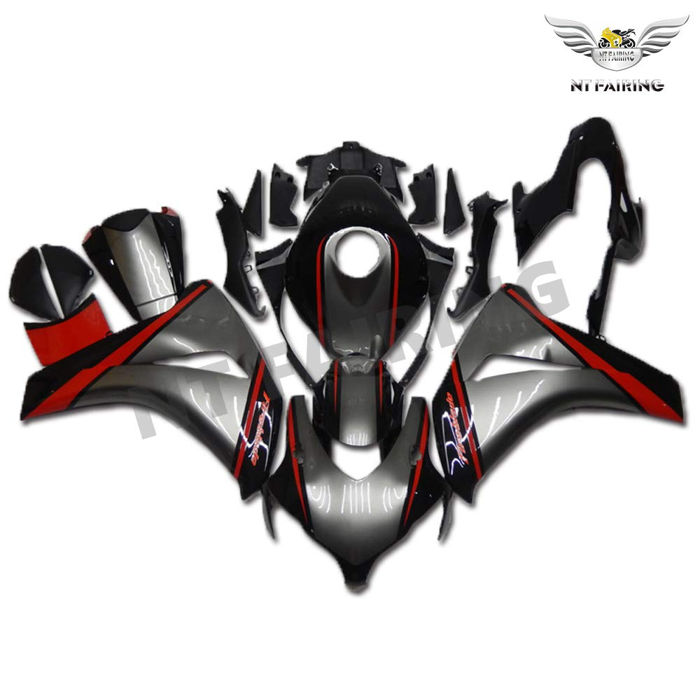 NT FAIRING Grey Black Red Fairing Fit for HONDA 2008 2009 2010 2011 CBR1000RR CBR 1000RR New Injection Mold ABS Plastics Bodywork Body Kit Bodyframe Body Work 08 09 10 11