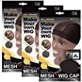 (3 Pack) Qfitt Mesh Dome Style Wig Cap