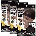 (3 Pack) Qfitt Mesh Dome Style Wig Cap