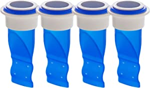 Yikuo 4 Pieces Drain Backflow Preventer, One Way Valve, Adjustable Silicone Sink Floor Drain Trap for Pipes Tubes in Toilet Bathroom Kitchen (Blue)