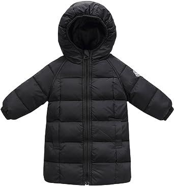 Children Warm Hooded Down Jacket Girls Boys Light White Duck Down Winter Coats