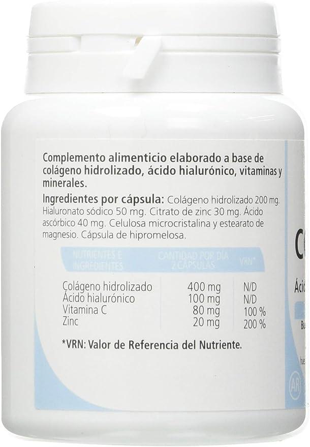 Sanon Colágeno + Ácido Hialurónico, 30 cápsulas de 500 mg, Total=15 gr: Amazon.es: Salud y cuidado personal