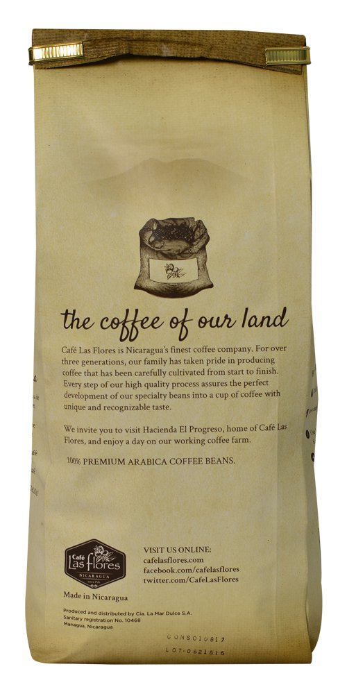 Amazon.com : Café Las Flores Grandes Cosechas Espresso Roast Whole Coffee Beans 907 GRAMS (2 POUNDS) 100% Arabica Gourmet Coffee Blend - Nicaraguas Finest ...