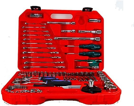 Inicio Caja de herramientas Juego de herramientas de hardware 121 fijan el hogar Herramientas de combinación manual de reparación de coches Caja de herramientas Caja de herramientas de Inicio Taller d: Amazon.es:
