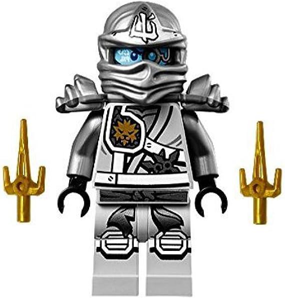 Amazon.com: Minifigura Zane Ninja de titanio de Lego Ninjago ...
