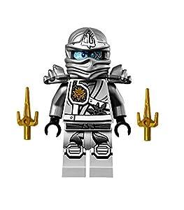 LEGO Ninjago Minifigure - Zane Titanium Ninja with Gold Sai Weapons (70748)