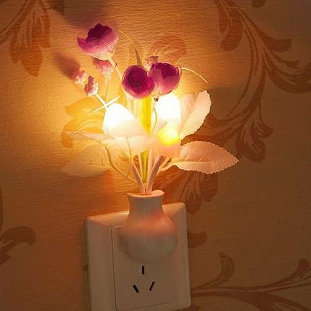 Gilroy Tulip Flower LED Night Light Soft Romantic Sensor Lamp for Home Decor