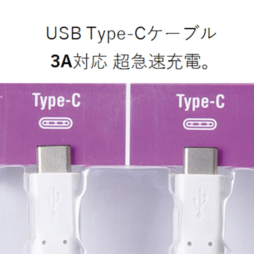 ELECOM USB Type C Cable Type C at 3A Output Ultra-Rapid Charging USB2.0 Certified Product 3.0m White MPA-CC30NWH USB C to USB C