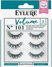 24dd0747dff Eylure Strip False Lashes No.101 (Volume) Multipack Pack Of 3