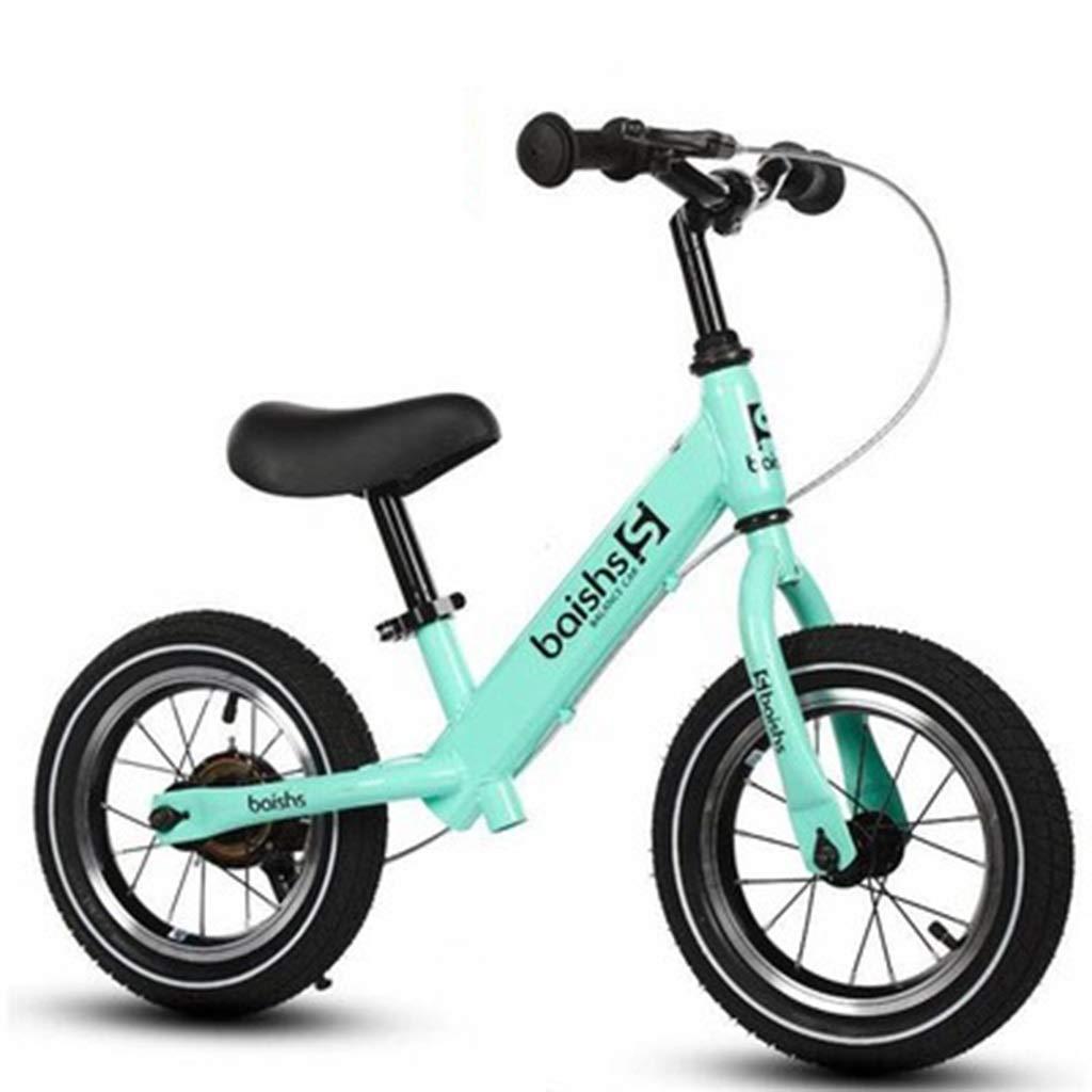 auténtico SSRS SSRS SSRS Coche de Equilibrio para niños No pedalear Bicicleta de Dos Ruedas 12 Pulgadas Rueda Rueda Scooter de bebé con Freno (Color   verde )  elige tu favorito