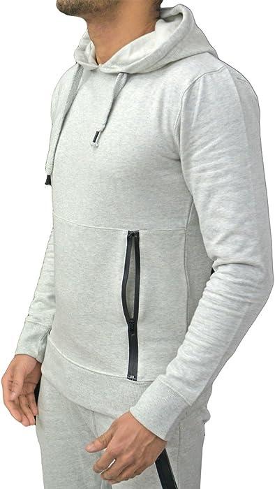 Mens Raiken Cargo Pocket Brushed Fleece Track Top Sweatshirt Jumper Size