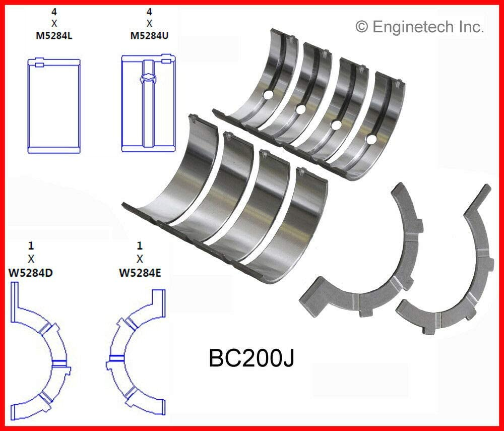 Enginetech BC200J.25 Main BRNG CHRY Jeep 3.7L 226 with Thrust Washer