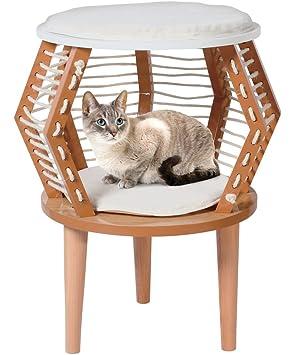Penn-Plax Gato Muebles Perca, Hideaway, y Cama, Moderno diseño de Madera
