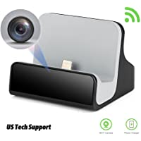 LIZVIE WiFi Network Hidden Spy Charging Dock Nanny Camera with Motion Detection, Invisible Lens, Video Recorder for Home Security and Surveillance(IOS Charger)