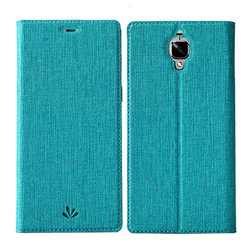 Wallet Flip Leather Case Cover For OnePlus 3T / OnePlus 3 (Blue) - 1