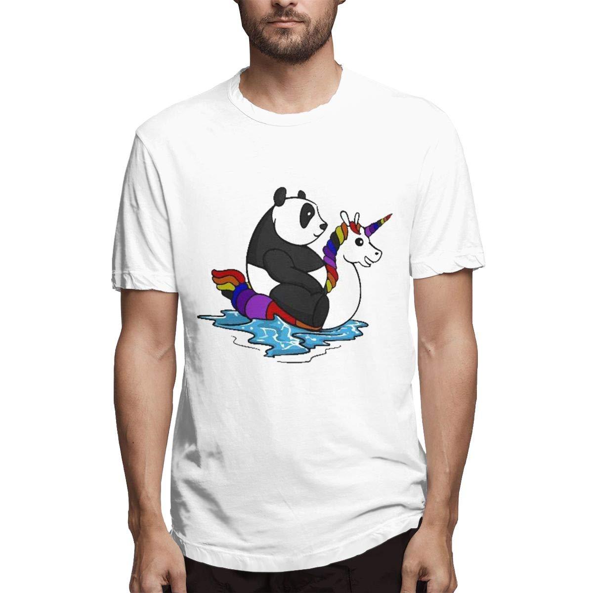 Unicorn Float And Panda Bear Pool S Short Sleeve Tshirts
