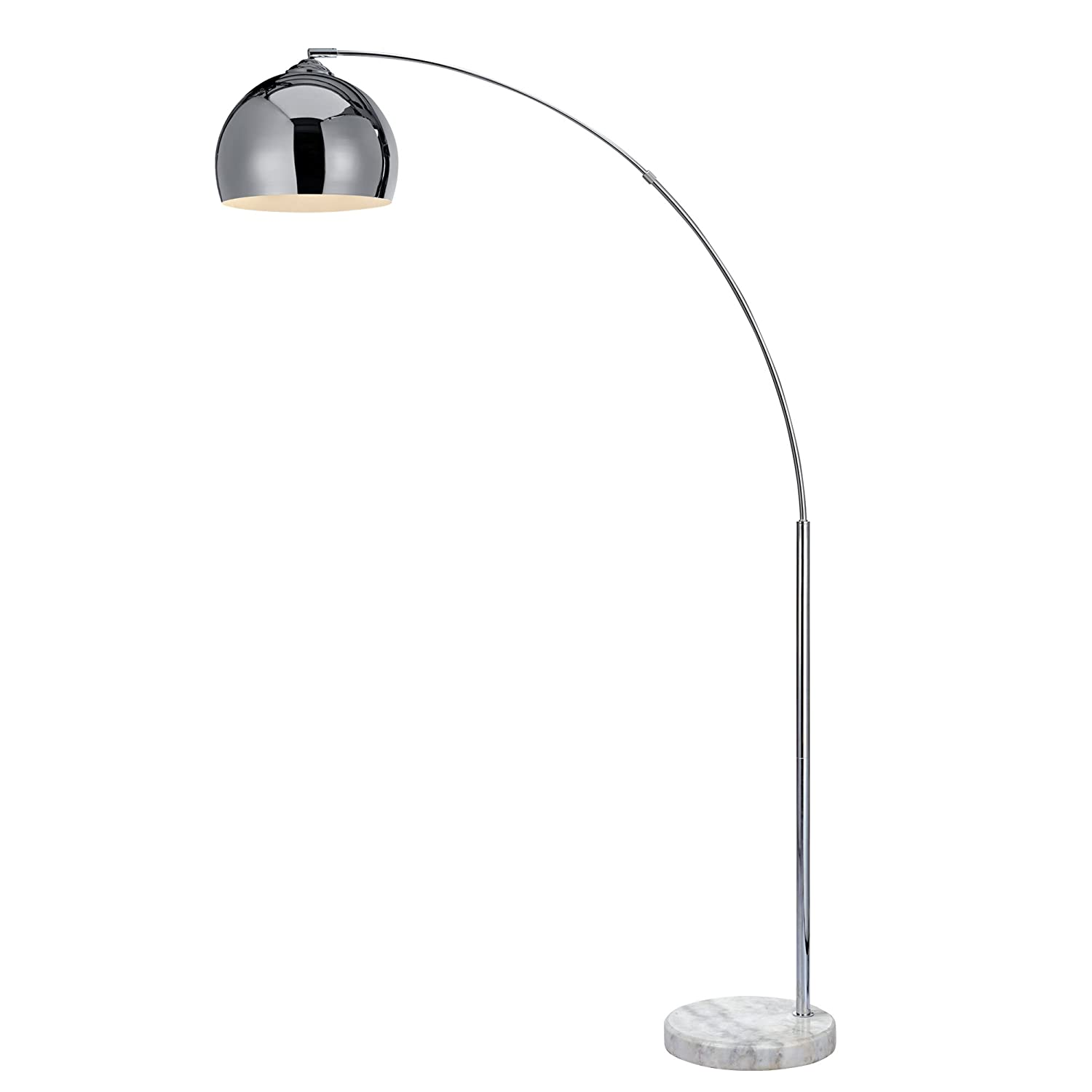 Versanora arquer 170cm modern arc floor lamp reading light for versanora arquer 170cm modern arc floor lamp reading light for living room bedroom marble base polished chrome finish amazon lighting mozeypictures Choice Image