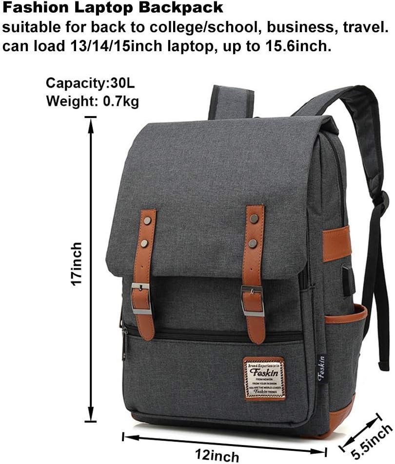 Vinyl Discs Retro Laptop Backpack 17 Inch Business Travel Backpacks for Men Women Adjustable Shoulder Strap with USB Charging Port Black Mens and Womens Business