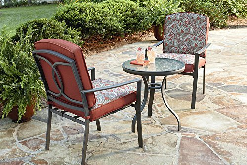 Lisbon 3PC Outdoor Patio Dining Set by Essential Garden (Lisbon Dining)