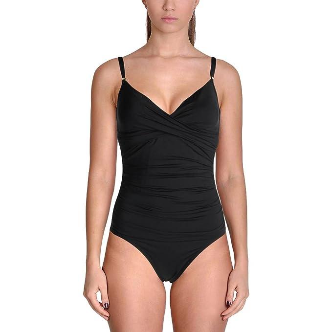 Amazon.com: calvin klein Women s Solid Twist traje de baño ...
