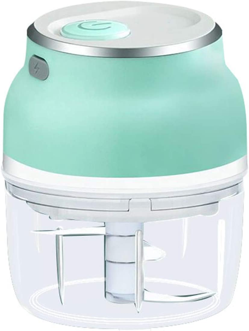Electric Garlic Chopper,Electric Mini Garlic Chopper Vegetable Food Mincer USB Rechargeable for Home Kitchen choping Garlic, Seasoning, Nuts, Vegetables, Meat, Ice Cubes (150ML)