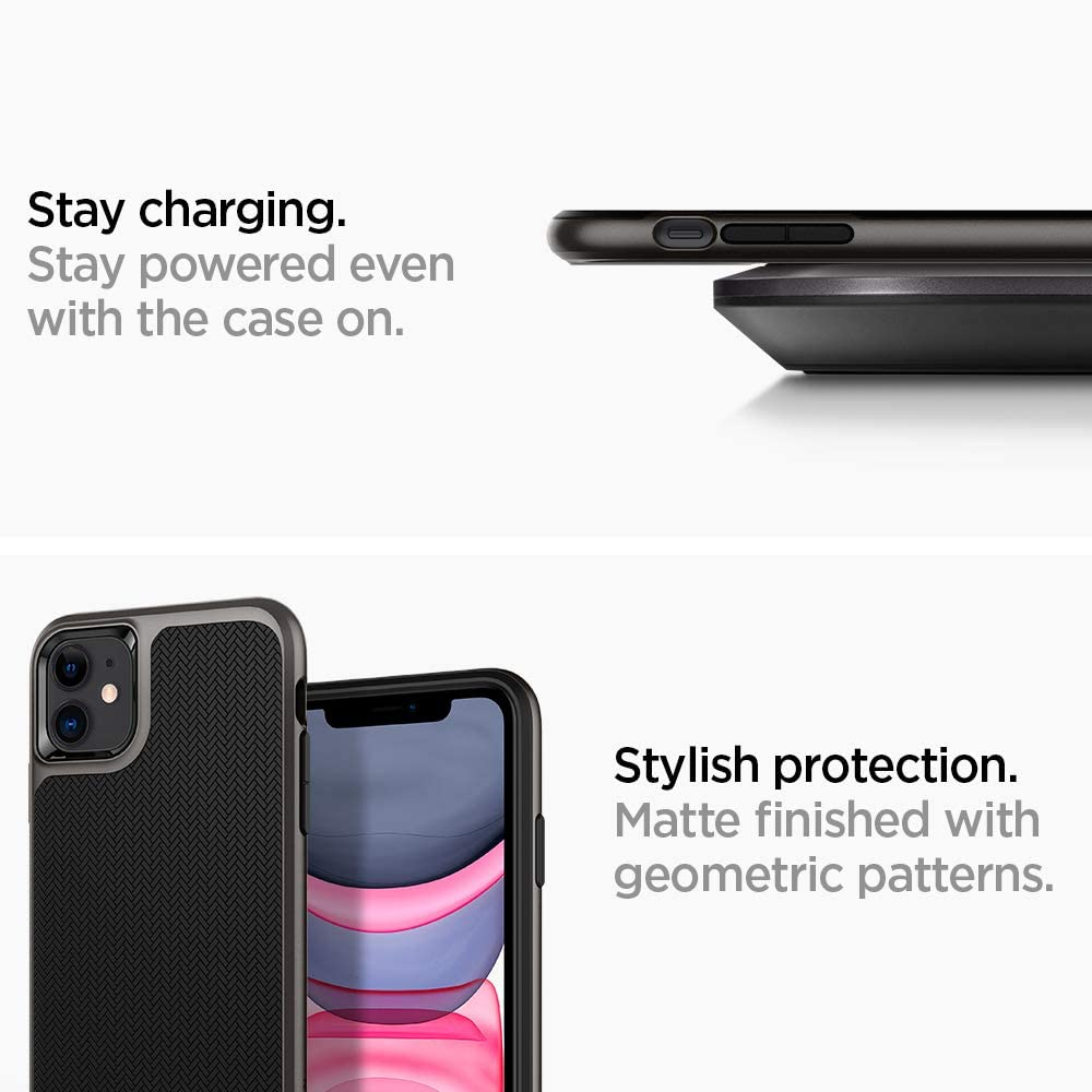 6.1 Gunmetal Compatible con Apple iPhone 11 2019 Spigen Neo Hybrid Funda iPhone 11