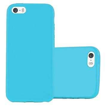 882dcb57f36 Cadorabo Funda para Apple iPhone 5 / iPhone 5S / iPhone SE en Jelly Azul  Claro: Amazon.es: Electrónica