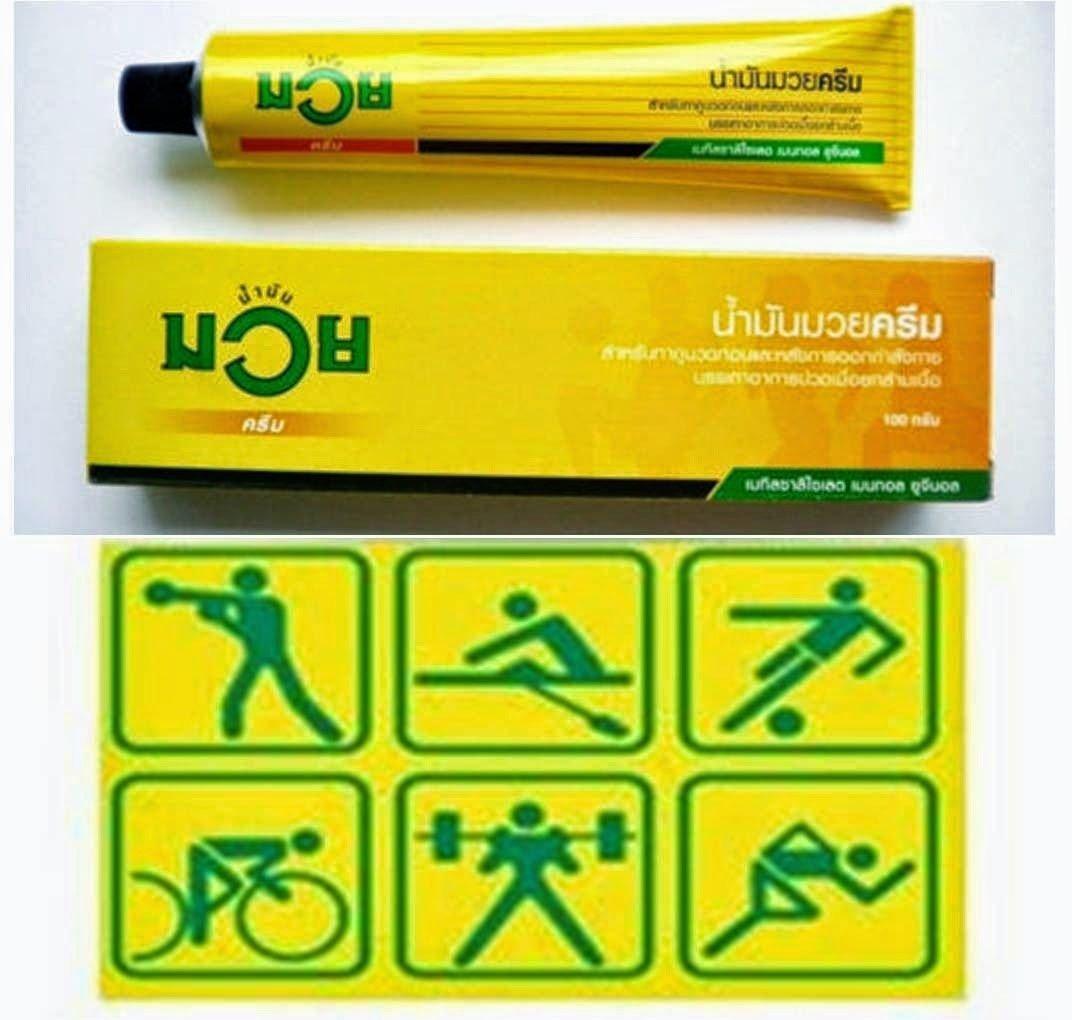 Namman Muay Thai Boxing Cream Analgesic Balm Massage Relief Ache 6x 100g by Namman Muay