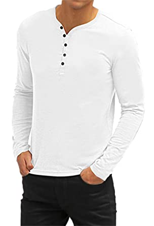 718453eda7 AIYINO Mens Casual V-Neck Short Sleeve T-Shirts Long Sleeve Polo Shirts   Amazon.co.uk  Clothing