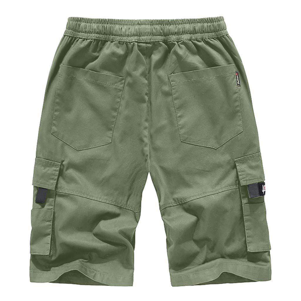 3ac44016fb ZYUEER Pantaloni Casual da Uomo Strappato Pantaloni da Lavoro ...