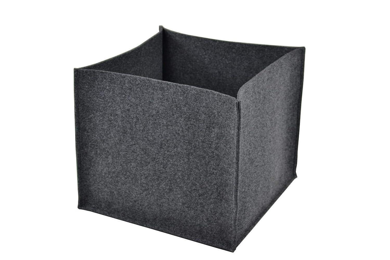 anthrazit Aufbewahrungsbox Feuerholzkorb Spielzeugkorb ohne Henkel Filz-Kult Filzkorb 40cm x 40cm x 35cm Holzkorb