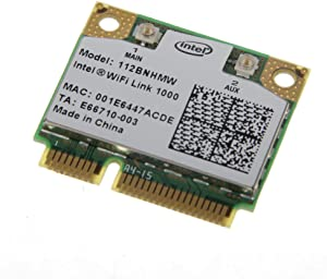 Intel Wifi Link 1000 Mini PCI Express Wireless-N Card 802.11b/g/n 2.4 GHz 112BNHMW 300Mbps