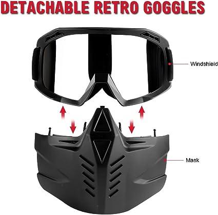 Motorcycle Goggles Retro Biker Golden MX Anti-UV  Windproof Eyewear