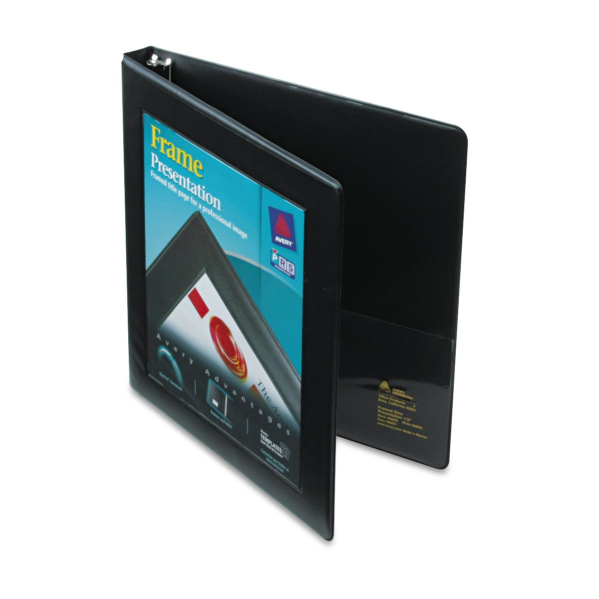 Avery Framed View Binder with 0.5 inch Gap Free Slant Ring, Black (68050) by Avery (Image #1)