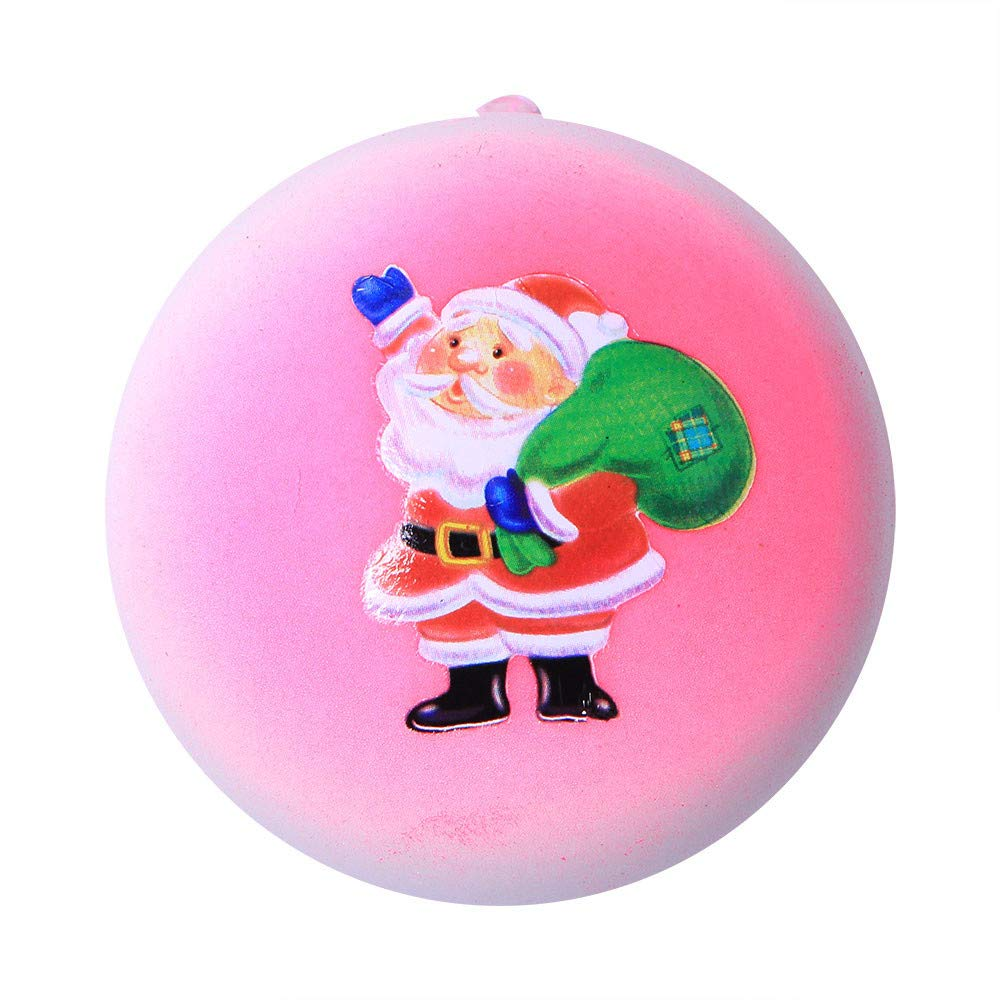 Homeparty Christmas Santa Claus Bread Slow Rising Scented Relieve Stress Toy Key Pendant
