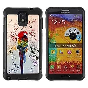 Suave TPU GEL Carcasa Funda Silicona Blando Estuche Caso de protección (para) Samsung Note 3 / CECELL Phone case / / Colorful Paint Splashes Rainforest /