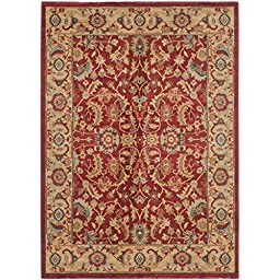 Safavieh Mahal Collection MAH699A Traditional Oriental Red and Natural Area Rug (3\' x 5\')