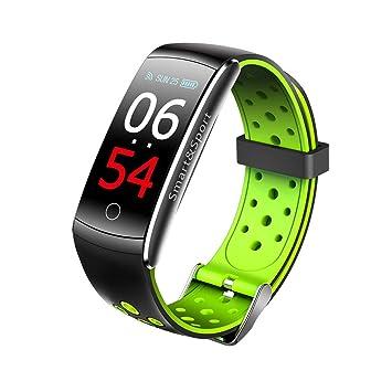 SoloKing Pulsera Actividad Pantalla Color IPS 30m Impermeable con Pulsómetros,Monitor de Dormir,Información Empuje