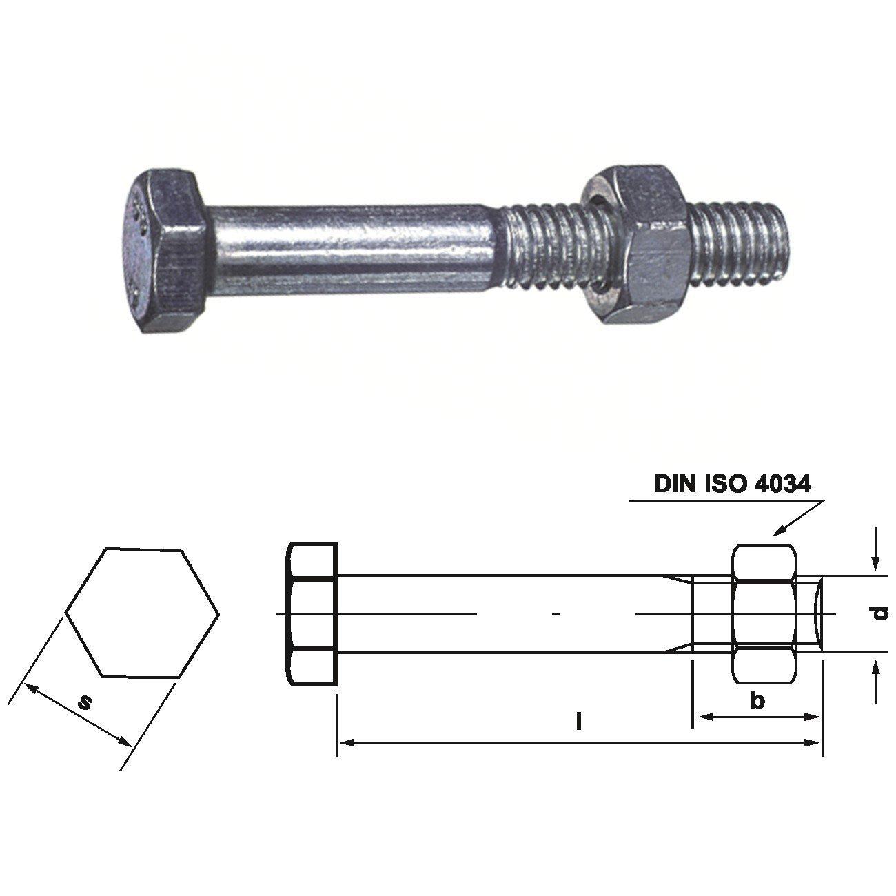 Dresselhaus Tornillos Drywall mé trica 601 de la Mu, 20 x 200 mm, galvanizado, 15 pcs 0/0024/001/  20 0/  200/     /01