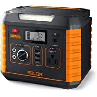 BALDR 330 Watt Solar Battery Portable Generator with QC3.0 & Type C SOS Flashlight and Wireless Charger