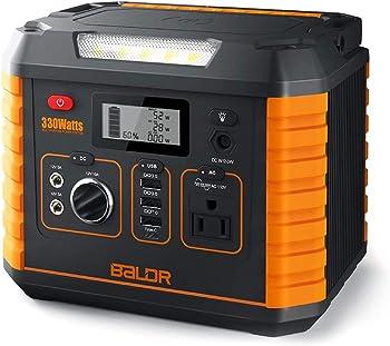 BALDR 330 Watt Solar Battery Portable Generator