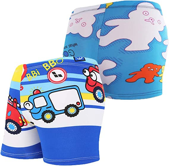Vegaltair Little Toddler Boys 2-Piece Swimsuit Trunk and Rashguard Ages 2-6 Years