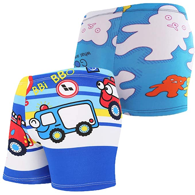 f0f9cc122b Monvecle Little Boys' 3-Pieces Shark Rash Guard Swimsuits UPF 50+ Sun  Protection