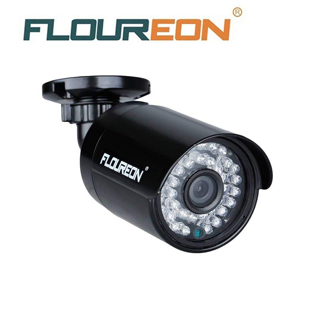 FLOUREON Camé ra de Surveillance 960P CCTV PAL É xté rieure 2000TVL 1.3MP Vision Nocturne 30M Max IR-Cut Conç u Systè me de Surveillance DVR AHD