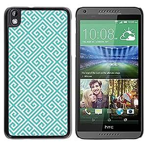 For HTC DESIRE 816 Case , Links Pattern Green Wallpaper - Diseño Patrón Teléfono Caso Cubierta Case Bumper Duro Protección Case Cover Funda
