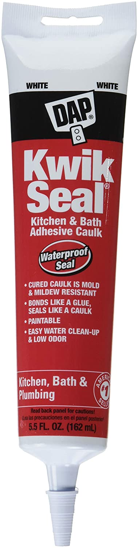 18001 12 Pack 5.5 oz. Kwik Seal Kitchen and Bath Adhesive Caulk White