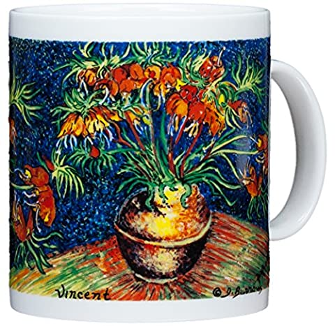 Vincent Van Gogh - Fritillaries In Copper Pot - 14oz Coffee (Grande Cina Tazza Di Caffè)