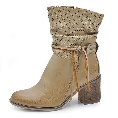 6d83c2da91 IF Fashion Scarpe da Donna Stivali Stivaletti Primaverili Estivi Punta  Camperos Texani G518