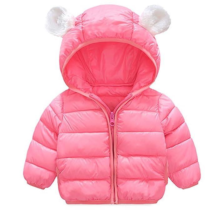 ARAUS Traje Abajo Abrigo Bebés Chaqueta Invierno Chaqueta Encapuchado Niños Orejas de Oso Chaqueta (70