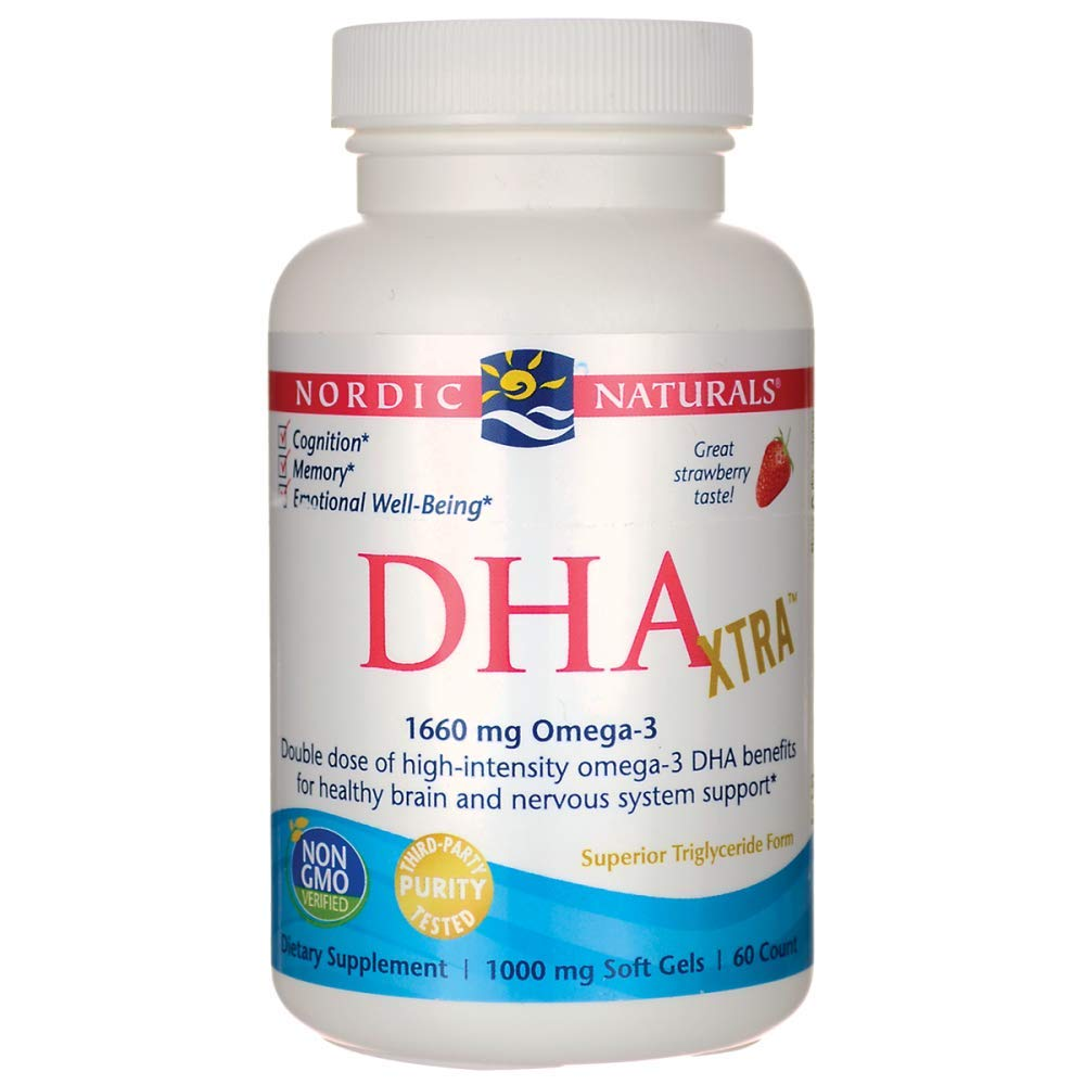 Nordic Naturals - DHA Xtra, Healthy Brain and Nervous System Support, 60 Soft Gels by Nordic Naturals